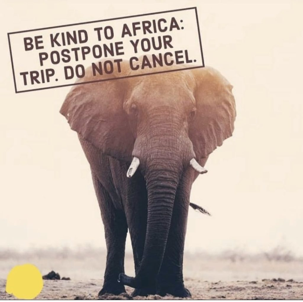 Why postponing and not cancelling your holiday during covid-19 helps Africa